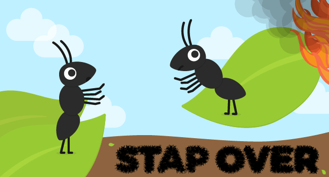 stap over