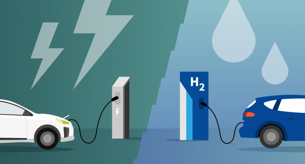 Elektrische auto of op waterstof